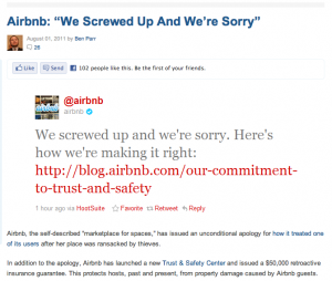 "Mashable screen shot - Airbnb: ""We Screwed Up And We're Sorry"""