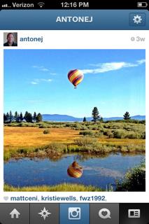 Screen shot of photo by Antone Johnson on Instagram